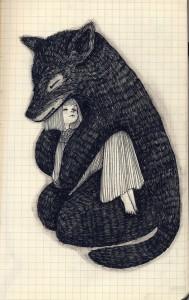 Fox Holding Child